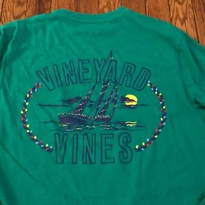 VINEYARD VINES LONG SLEEVE SHIRT XS EUC GREEN HTF